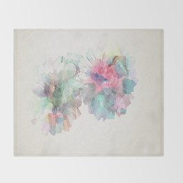 Watercolour Flowers Throw Blanket