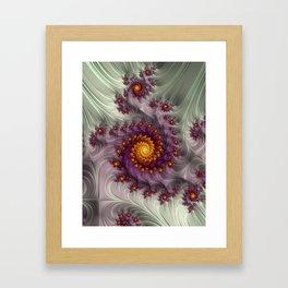 Saffron Frosting - Fractal Art Framed Art Print