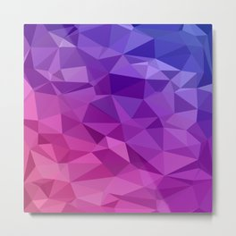 Geometric Abstract Art Pattern Three Metal Print