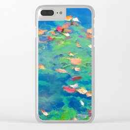 Autumn leaves on water 3 Clear iPhone Case