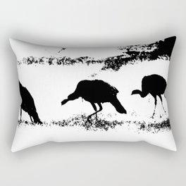 Turkey Silhouette Rectangular Pillow