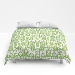 Swedish Folk Art - Greenery Comforters