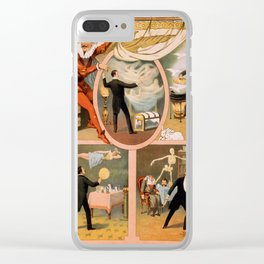 Vintage poster - Magician Advertisement Clear iPhone Case