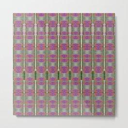 Digital Printed Yarn Textures Metal Print