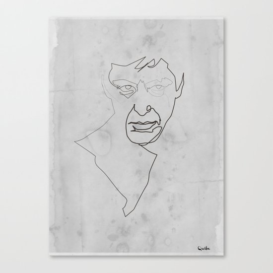 One line Scarface Canvas Print
