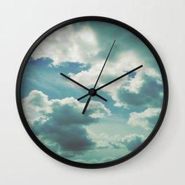 clouds sea Wall Clock