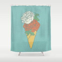 Rose ice cream Shower Curtain