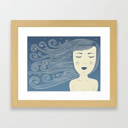 The Moon In Human Form Framed Art Print