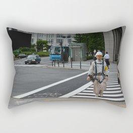 Man at work Rectangular Pillow