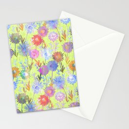 Gillian Floral Lime Stationery Cards