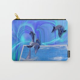Leaping Dolphins Carry-All Pouch