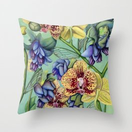 Lost Wing In Bloom Throw Pillow