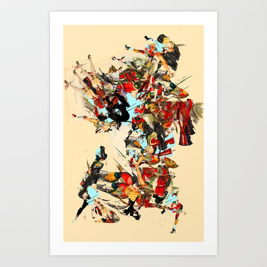 non-headed trogon Art Print