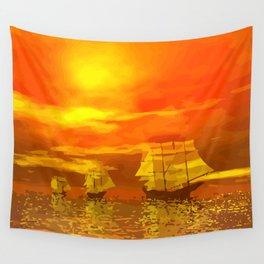 Segelschiffe im Sonnenschein Wall Tapestry