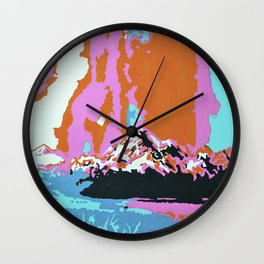 Liquid Sunshine In The Mountains Wall Clock