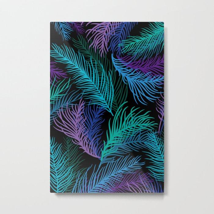 Multicolored palm leaves Metal Print
