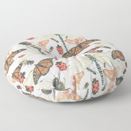 Scattered Bugs Floor Pillow