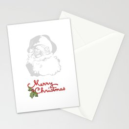 Jolly Santa Merry Christmas Stationery Cards