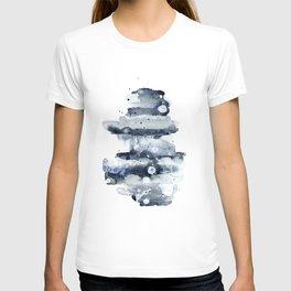 Indigo Abstract Watercolor No.1 T-shirt