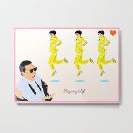 Gangnam Style Valentine Metal Print