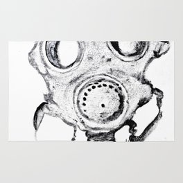 Gas Mask 102 - Gas Mask Series ~ Leslie J. Anderson, The Bootblack Daddy Rug