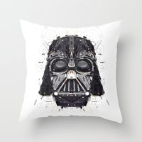 darth vader Throw Pillows featuring darth vader by yoaz