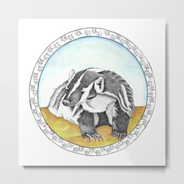 North American Badger Metal Print
