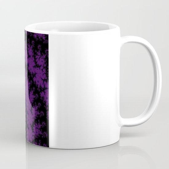 Purple Spiral Fractal Design Mug
