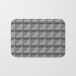 Modern Simple Geometric 3 in Charcoal Grey Bath Mat