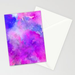 ink style of purple watercolour texture Stationery Cards