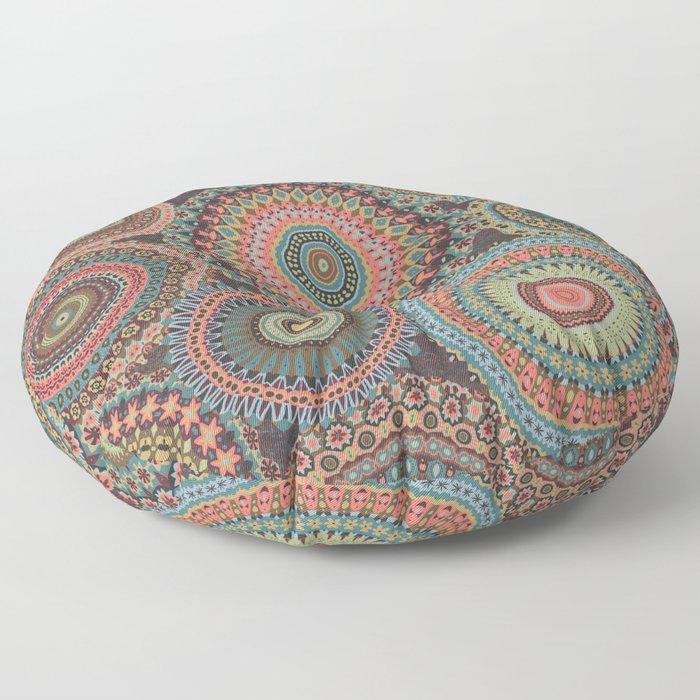 Boho Patchwork-Vintage colors Floor Pillow