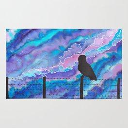 Galaxy Owl Rug