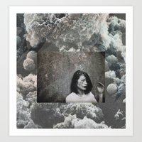 cloud Art Prints featuring cloud by Ina Nederdal