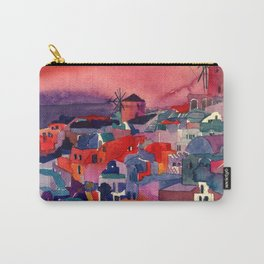 Sunset on Santorini Carry-All Pouch