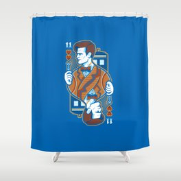 11th of Hearts Shower Curtain
