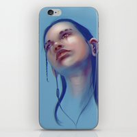 sci fi iPhone & iPod Skins featuring Sci-fi Music listening by Thubakabra