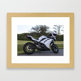 Nature & Motorcycles Framed Art Print