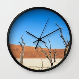 Dead Tree Desert Landscape Wall Clock