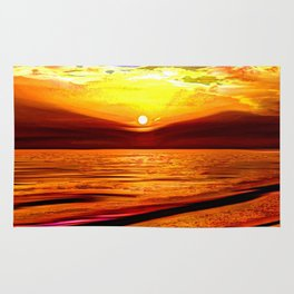 Sunset in Liverpool Bay Rug