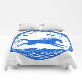 Blue Unicorn 02 Comforters