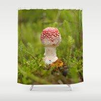 mushroom Shower Curtains featuring Mushroom by Mirella von Chrupek