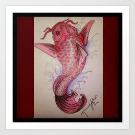 Crimson Koi Art Print