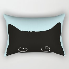 Black cat I Rectangular Pillow