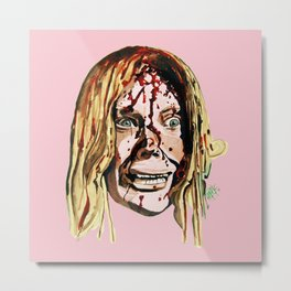 Sissy Spacek AKA Stephen King's 'Carrie' in Pink. Metal Print