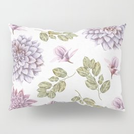 Lavender Rose Garden Floral Pattern Pillow Sham