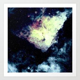 Teal Carina Nebula Art Print