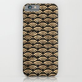 Waves (Black) iPhone Case