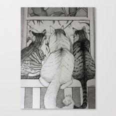 It's a Cat's World Canvas Print