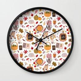Autumn cozy Wall Clock