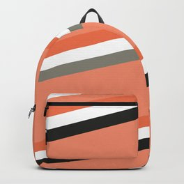 Modern Halloween Stripes #abstract #art #stylish #pattern #modern #composition #buyart #home #decor Backpack